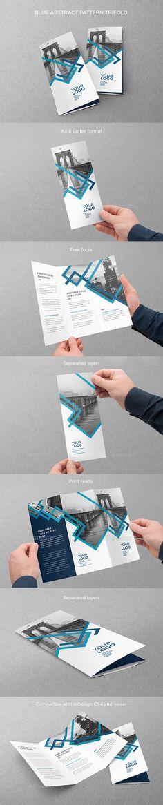 Blue Stripes Trifold Brochure Template InDesign INDD. Download here: http://graphicriver.net/item/blue-stripes-trifold/16367672?ref=ksioks