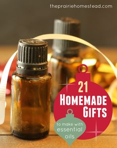 Top 20+ homemade gifts - I can wait to use my ever-growing essential oil stash to make these!