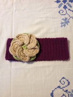 Crochet Headband with Flower by BabiesLoveLoveys on Etsy