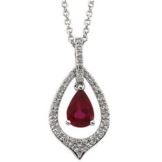 Diamond and Ruby Necklace available at Houston Jewelry!