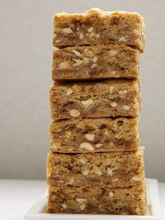 Brown Butter Blondies up the blondies ante with nutty, delicious brown butter, toffee, and nuts. Bake or Break