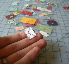 Mini Envelopes.....ah....speaks to the letter writer in me! BTW...where has she gone!?!??!?!