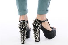 FOXY SPIKE by Jeffrey Campbell (Black)   Sarenza UK   Your High heels FOXY SPIKE Jeffrey Campbell delivered for Free