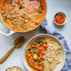 Butter Chickpea & Spinach Curry - Madeleine Shaw Veggie Recipes, Indian Food Recipes, Vegetarian Recipes, Dinner Recipes, Cooking Recipes, Healthy Recipes, Ethnic Recipes, Veggie Meals, Oven Recipes