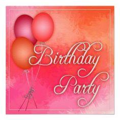 Easy Birthday Party invitation template