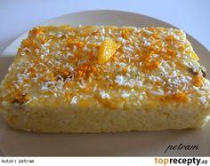 Jablečno-pomerančové jáhlové řezy