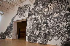 Masking Tape Drawings by Artist Heeseop Yoon