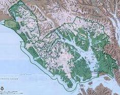 Map of Glacier Bay national park.