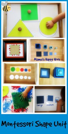 Toddler Montessori Inspired Shape Lessons - www.mamashappyhive.com