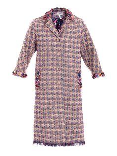Whitley tweed embellished coat   Erdem   Matchesfashion.com