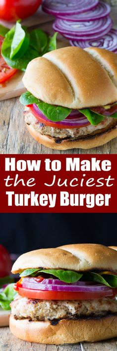 to Make A Juicy Grilled Turkey Burger Making a juicy turkey burger is easy. It just takes a few secrets to get the perfect juicy turkey burger.Making a juicy turkey burger is easy. It just takes a few secrets to get the perfect juicy turkey burger. Turkey Burger Recipes, Turkey Burgers, Ground Turkey Recipes, Chicken Recipes, Hamburger Recipes, Veggie Burgers, Hamburger Buns, Barbecue Recipes, Grilling Recipes