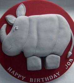 3D Rhino Birthday Cake   Flickr - Photo Sharing!