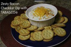 Zesty Bacon Cheddar Dip Recipe with TABASCO