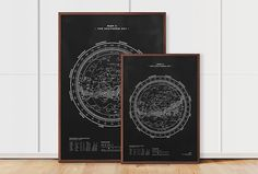 Map II – The Southern Sky (Silver-White/Black), 70x100, by stellavie