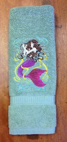 49 Best Mermaid Bathroom Images Bath Linens Bath Towels Mermaid