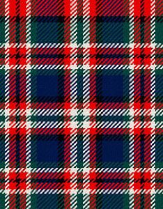 TRACY: MacFarlane Clan Tartan, BOOK COVER COLORS (WHERE PURPLE WOULD BE ON SAMPLE)