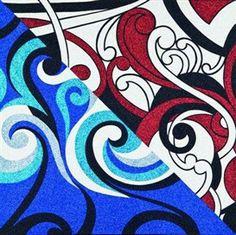 Strong lines and design elements. Maori Designs, Nz Art, Maori Art, Glitter Art, Seashell Crafts, Art Object, Painting Patterns, Famous Artists, Tribal Tattoos