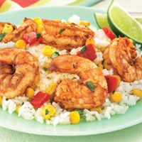 delicious- texas shrimp with peppers and corn