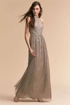 ed708c69ace9 BHLDN Ginny Dress Silver Grey in Occasion Dresses