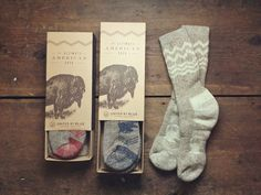 American Bison Wool Sock