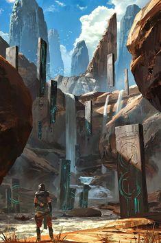 Best Ideas For Sci Fi Concept Art Landscape Science Fiction Concept Art Landscape, Fantasy Concept Art, Fantasy Landscape, Fantasy Artwork, Landscape Art, Concept Art World, Alien Concept, Fantasy Drawings, Arte Sci Fi