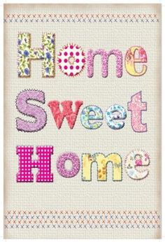 Home Sweet Home - Vintage Style Enamelled Metal Sign -20cm x 15cm:Amazon:Kitchen & Home