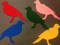 Narrating Tales of Preschool Storytime: 5 Little Birds Flannel Board