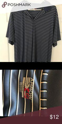 Golf shirt L Blue and white lightweight golf shirt Arrow Shirts Polos