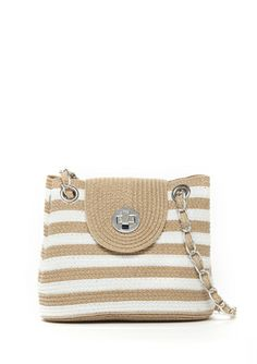 On ideeli: MAGID Chain Strap Striped Tote