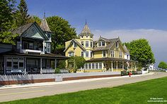 Mackinac Island, no cars allowed, only bikes and horses. Would live their the rest of my life if I could!
