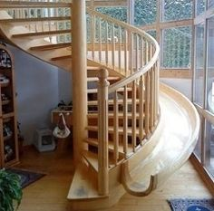 Um, YES!! Stairs that have a slide you can use to go down.