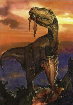 Yangchuanosaurus is a genus of metriacanthosaurid theropod dinosaur that lived in China during the Bathonian and Callovian stages of the Middle Jurassic, and was similar in size and appearance to its North American relative, Allosaurus.