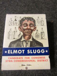 Vintage 1958 tip'n' Twinkle ELMOT SLUGG candidate by kookykitsch