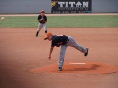 Baseball- pitching my son
