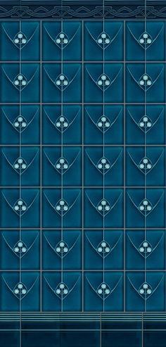 Art Deco tiles- I could easily see these staggered too