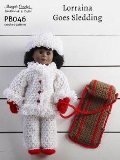 Crochet Pattern Lorraina Goes Sledding PB046-R