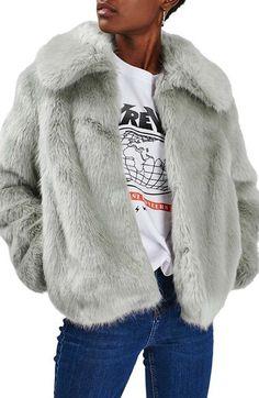 Women's Topshop Claire Faux Fur Coat