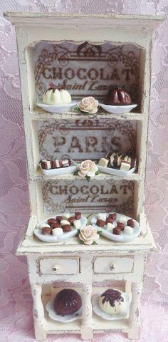 Miniature shabby chic dresser Chocolat b - http://myshabbychicdecor.com/miniature-shabby-chic-dresser-chocolat-b/ - #shabby chic #home decor #design #ideas #wedding #living room #bedroom #bathroom #kithcen #shabby chic furniture