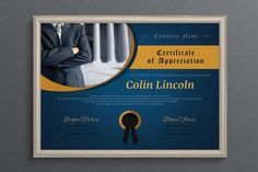 Business Certificate Template by Visual Impact on @creativemarket