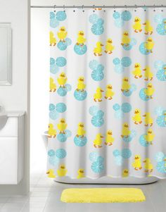Duck Shower Curtains Duck Family Shower Curtain Cute Ducky Home Decor And More Pinterest