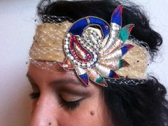 Usha// Imported Indian Silk Handmade Headband by LatressOnTheMenjay on Etsy
