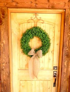BOXWOOD Wreath-EXTRA FULL Large Door Wreath-Artificial Boxwood Wreath-Fall Wreath-Winter Door Wreath-Scented Apple Cinnamon-Choose Scent
