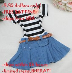 a34cd74db8 Ready for Shipping Striped 2t Infant Girls Denim Dress FREE SHIPPING Denim  Tutu Dress with Belt