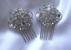 Small Hair Combs, Birdcage Veil Combs, Veil Hair Clips, Bridal Shoe Clips -- Learn more by visiting the image link.