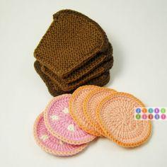 crochet bread and fixin's Crochet Food, Crochet For Kids, Diy Crochet, Knitting Projects, Crochet Projects, Knitted Hats, Crochet Hats, Stitch Witchery, Play Food