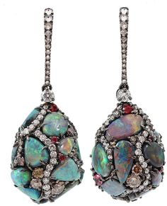 Arunashi opal egg drop earrings $36,600.00 thestylecure.com