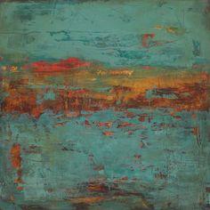 Martha Rea Baker,  Chronos VIII—-30″ x 30″ oil & cold wax