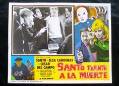 """SANTO FRENTE A LA MUERTE"" ELSA CARDENAS N MINT ORIGINAL LOBBY CARD PHOTO 1969"
