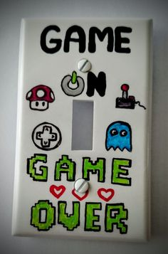 Game Room Light Switch Cover  with <3 from JDzigner www.jdzigner.com