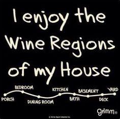 What's your favorite 'wine region' at home? Wine Jokes, Wine Meme, Wine Funnies, Funny Wine, Image Pinterest, Stress Humor, Wine Signs, Wine Down, Coffee Wine